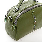 Сумка-клатч кожаная женская Alex Rai  (22x16x11 см) green, фото 3