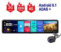 Навігатор з відеореєстратором. Автопланшет дзеркало Terra V26 4G, ADAS +, Android 8.1