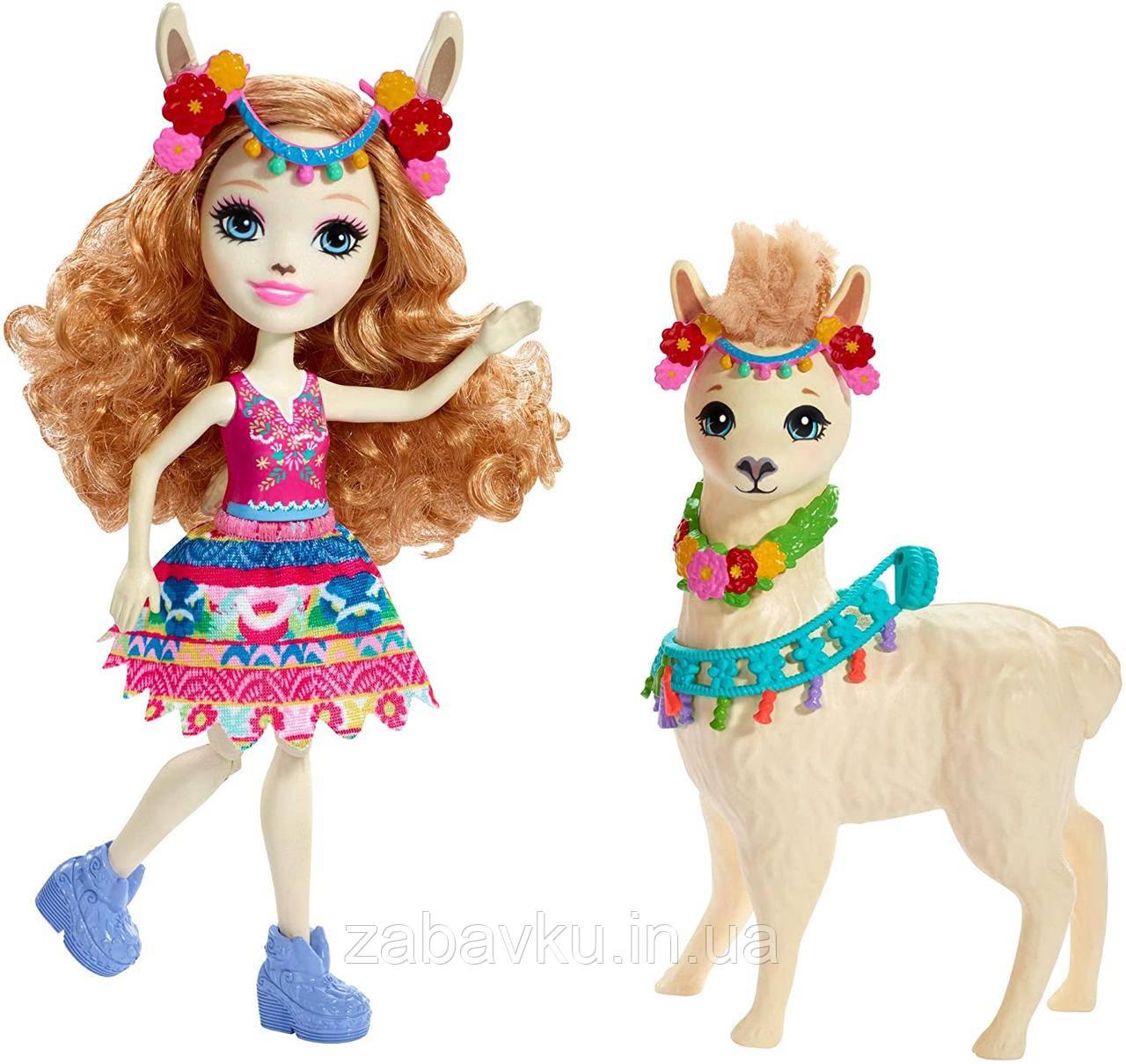 Enchantimals Lluella Llama Doll & Fleecy Figure Енчантімалс Лама Энчантималс