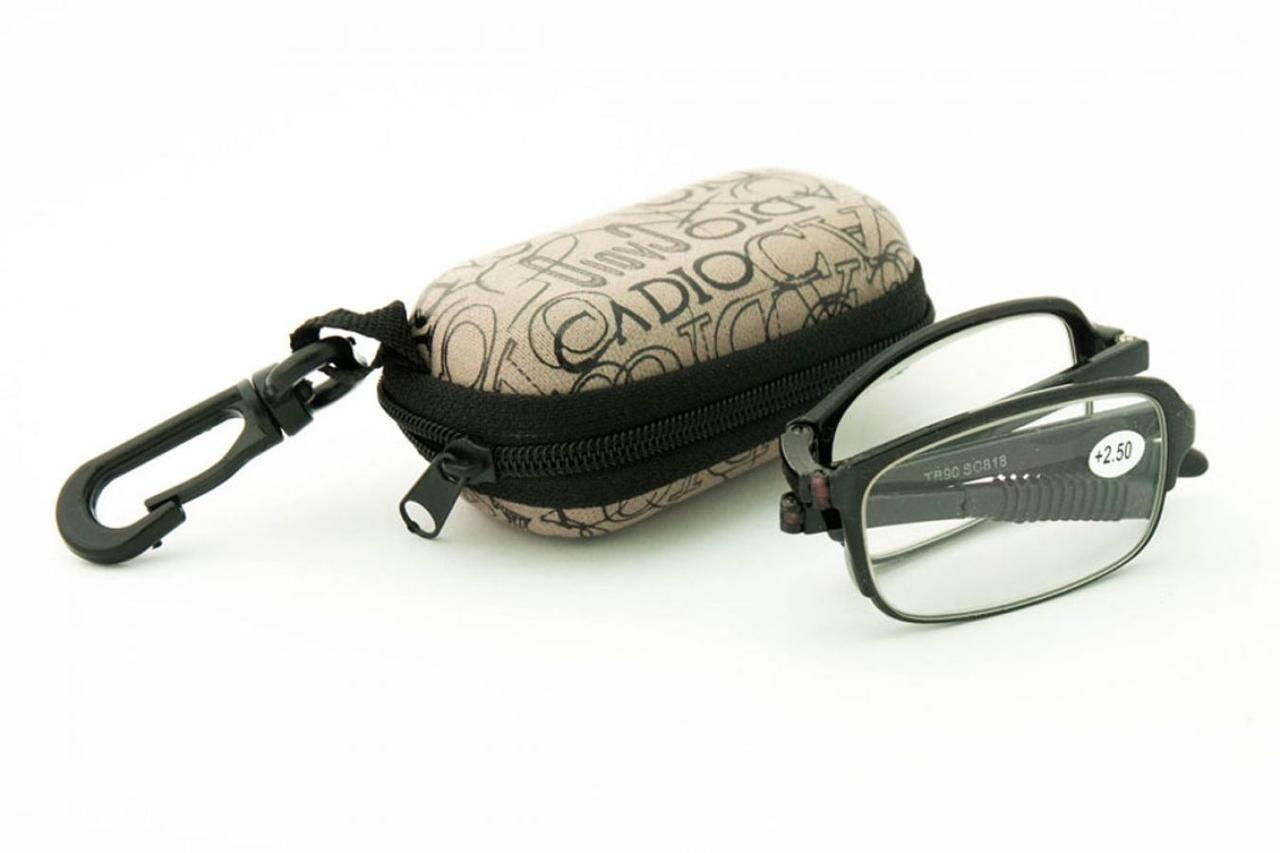 Складные очки  (+4.0) в футляре