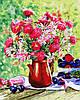 """Картина по номерам Rainbow Art  """"Цветы и сливы"""" GX34321"""