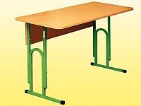 Стол ученический 2-местный,  без полки, ростовых групп № 4, 5, 6 — 1200х500х640-760 мм