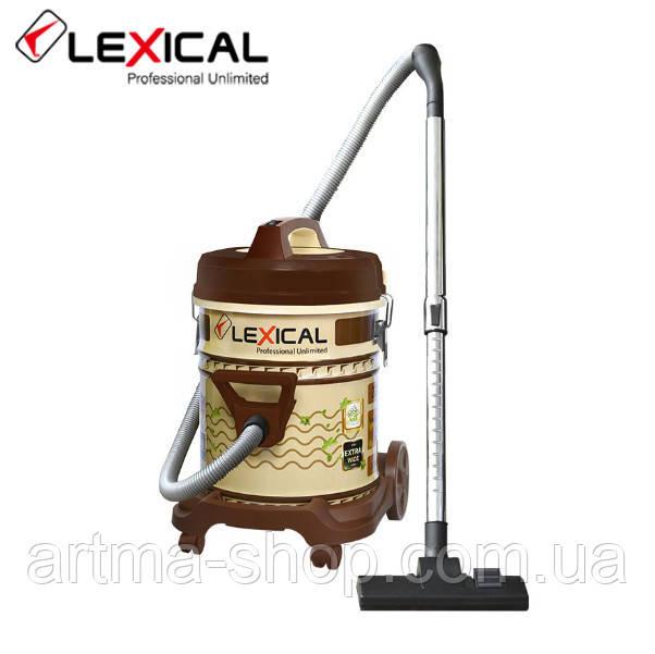 Строительный пылесос Lexical для сухой уборки с контейнером и фильтром Мощность 2200 Ватт, Бак 25 литров