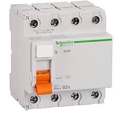 Дифференциальный выключатель (УЗО) Schneider Electric Домовой ВД63, 4P 63А 30мА,  11466