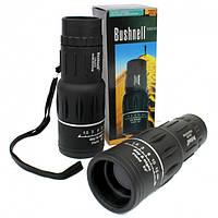 Cверхмощный  монокуляр компактный легкий влагозащищенный подзорная труба с чехлом Bushnell 16x52 черный
