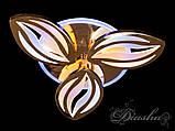 Стельова люстра з діммером і LED підсвічуванням, колір золото 8092/3G LED 3color dimmer, фото 4