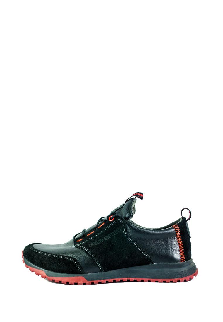 Кроссовки мужские Maxus Лакоста-2 черная кожа-замша (40)