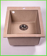 Кухонная гранитная мойка Formini 500/420/200 ( Темно-бежевый )
