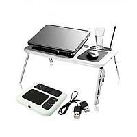 Складной столик-подставка для ноутбука с кулером E-Table LD09 IKEA