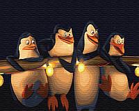 Картина по Номерам Пингвины Мадагаскара 40х50см BrushMe