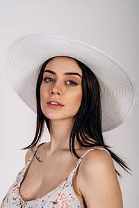 Шляпка широкополая Сара оптом SHL-2025 белая