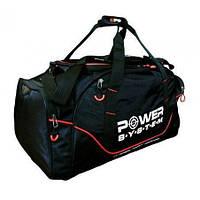 Сумка спортивная Power System PS-7010 Gym Bag Magna Blak and Red SKL24-252390