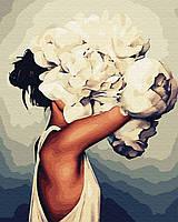Картина по Номерам Эми Джад Женщина в пионах 40х50см BrushMe