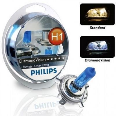 Лампа галогенна Philips H1 Diamond Vision, 5000K, 2шт/блістер