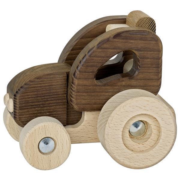 Машинка деревянная goki Трактор (натуральный) 55911G