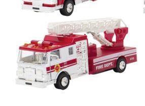 Машинка металлическая goki Пожарная машина лесница белая 12115G-1