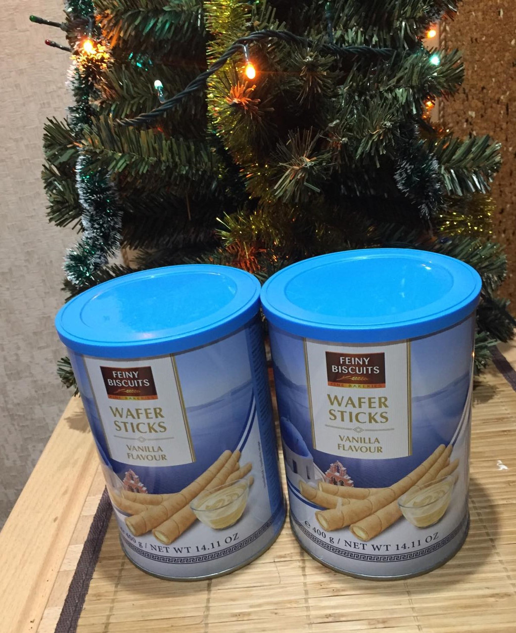Вафельные трубочки Feiny biscuits wafer sticks ваниль 400г (Австрия)