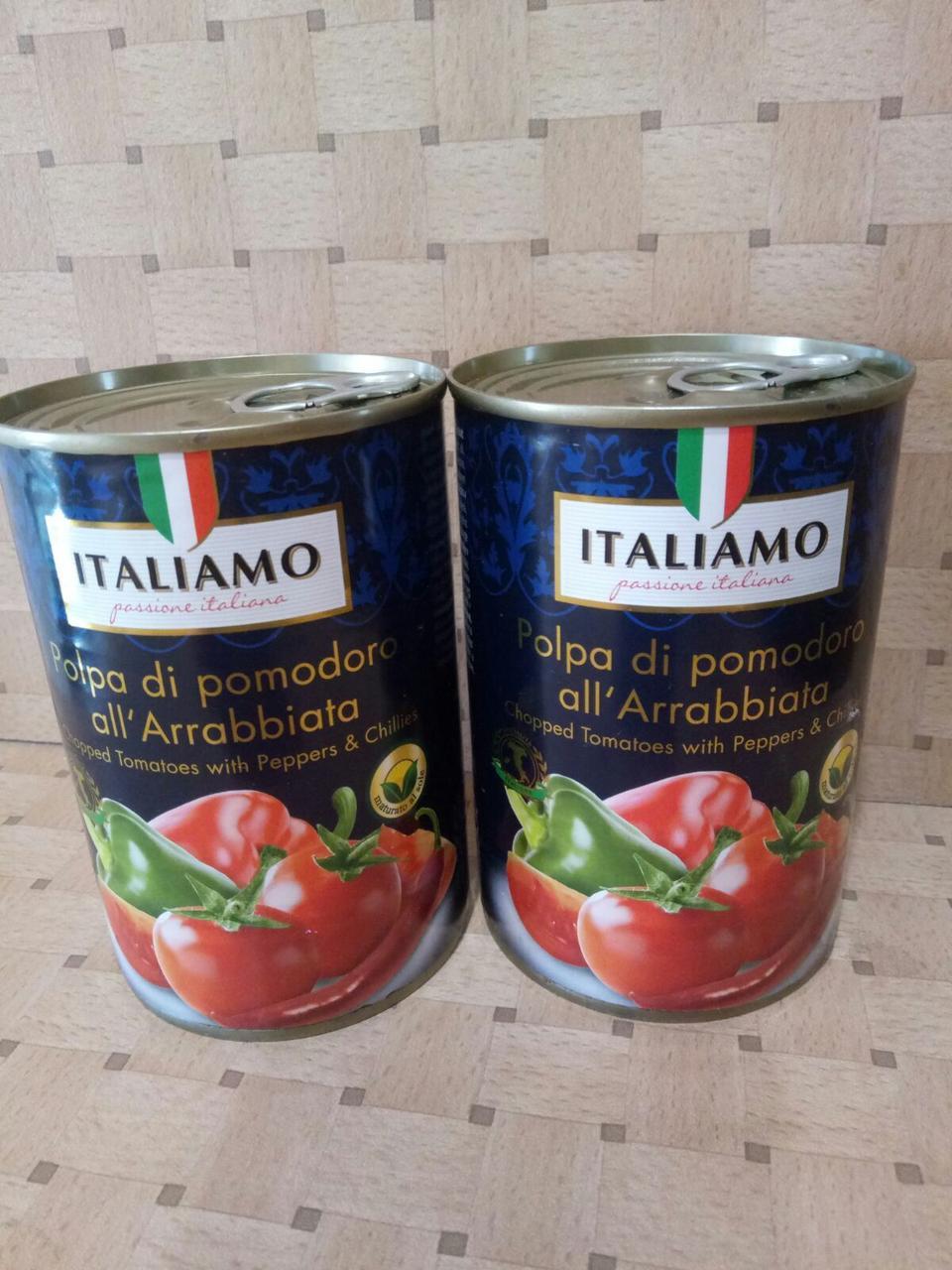 Томаты в соусе Арабиата Italiamo, 400 г (Италия)