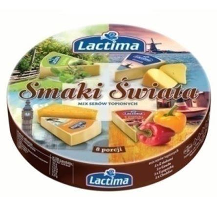 Сырок плавленный Lactima, микс (с травами, гауда, с перцем, чеддер), 140г