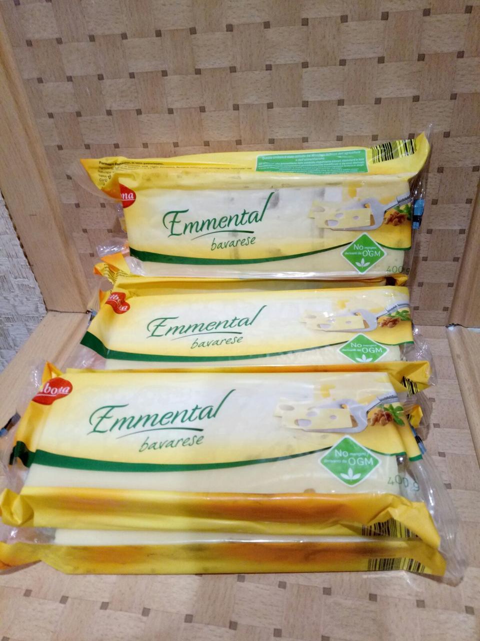 Сыр Эмменталь Emmentaler Milbona 400г, Германия