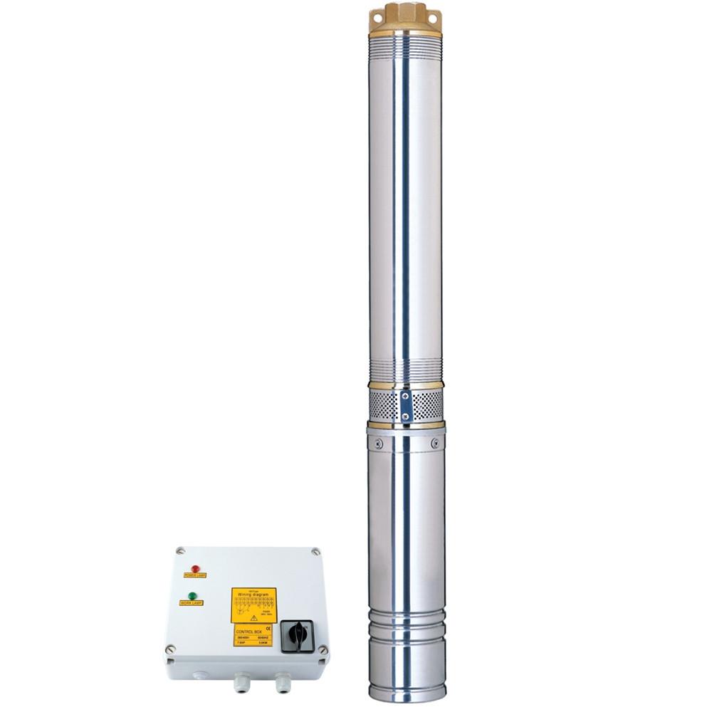 Відцентровий Насос свердловинний 380В 4.0 кВт H 136(95)м Q 240(165)л/хв Ø102мм AQUATICA (DONGYIN) (7771663)