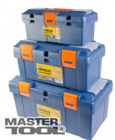 """MasterTool  Ящик для инструмента 14"""" (345*170*150 мм), пластиковые замки, Арт.: 79-2614"""