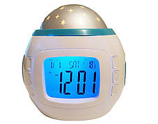 Музыкальные детские часы с проектором звездного неба   Ночник  YUHAI UI-1038, фото 2