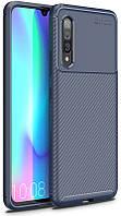 Чехол-накладка TOTO TPU Carbon Fiber 1,5mm Case Samsung Galaxy A90 5G Dark Blue 103301, КОД: 1389677