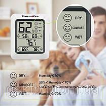 Термо-гигрометр ThermoPro TP-50 (-50°C до 70°C), фото 3
