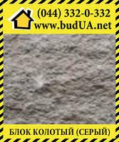 Блок декоративный бетонный, серый,  400*200*200