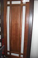 Двері кімнатні деревяні вільха зі склом, фото 1