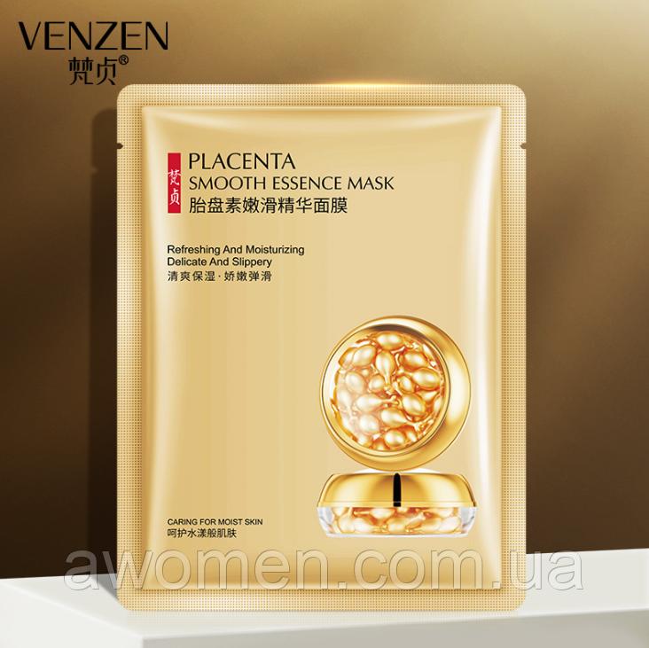 Маска для обличчя Venzen Placenta Smooth Essence mask екстракт плаценти 25 g