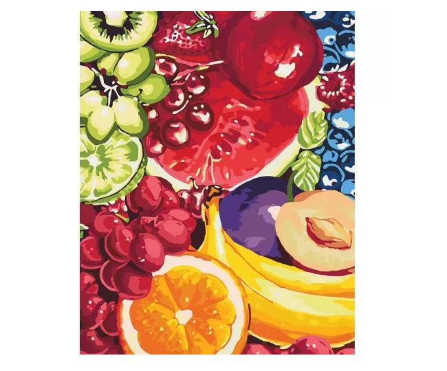 """Картина по номерам Идейка """"Сладкие фрукты"""" 40х50см KHO2937"""