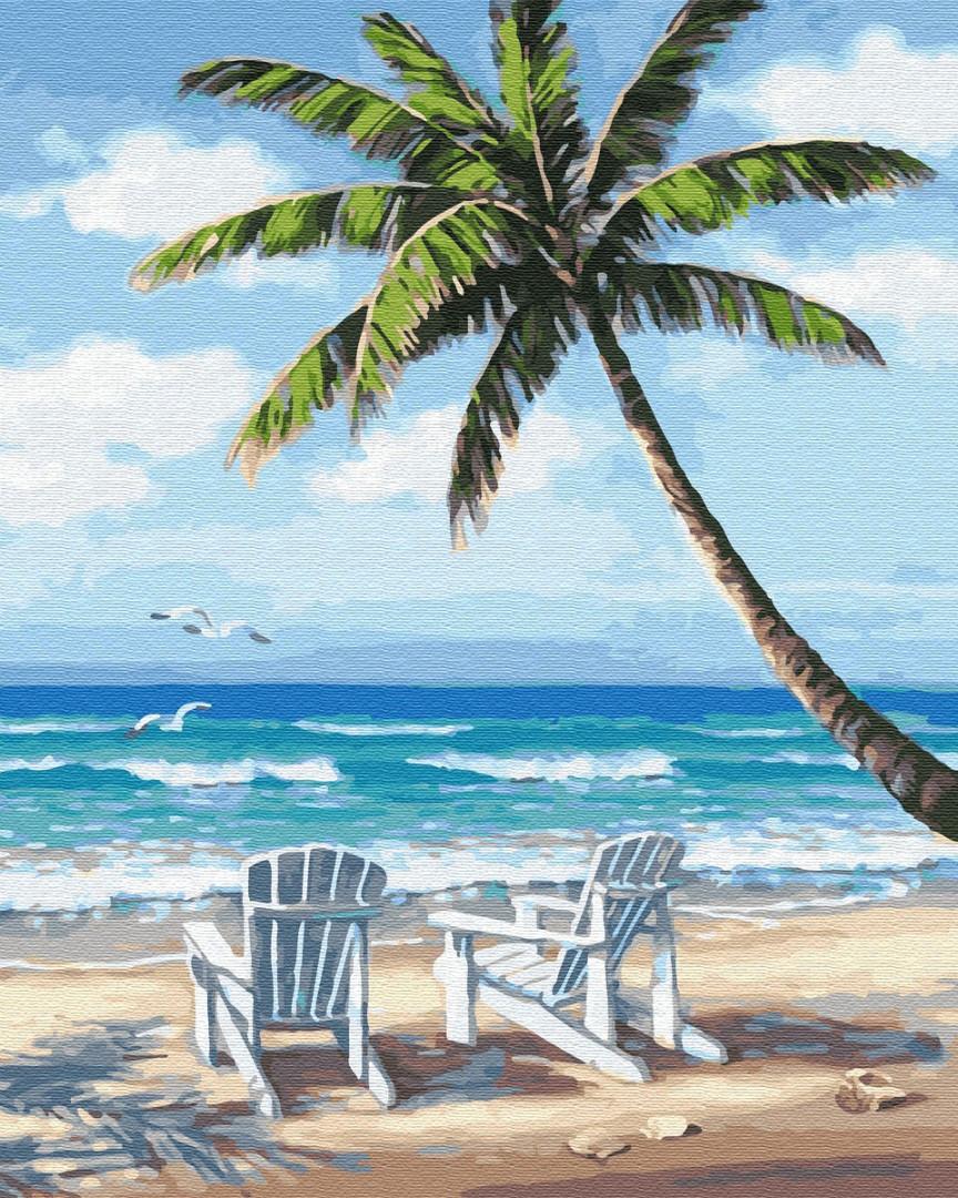 "Картина по номерам BrushMe (Брашми) ""Шезлонги на побережье"" 40х50см GX28242"