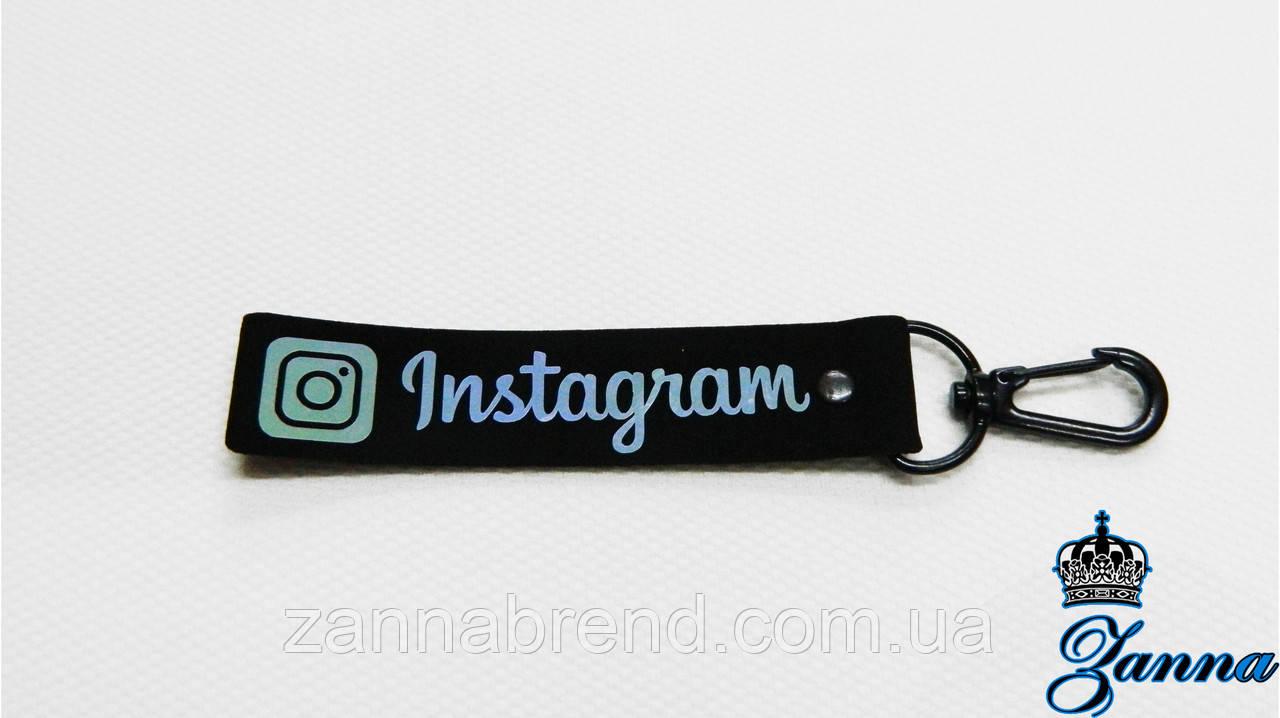 """Підвіска тканинна з металевим гачком """"Instagram"""""""