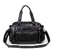 Мужская дорожная спортивная повседневная офисная модная стильная кожаная сумка портфель
