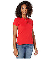 Поло U.S. POLO Solid Pique Polo Shirt Raging Red/Midnight Blue - Оригинал