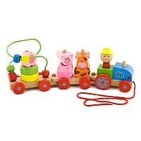 Деревянная игрушка паравозик T15-004
