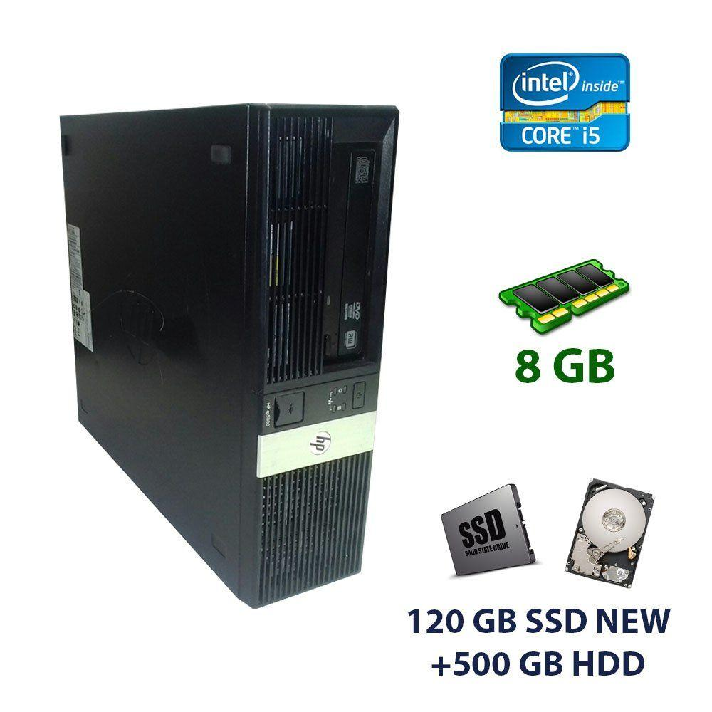 HP 5800 DT / Intel Core i5-2400 (4 ядра по 3.1 - 3.4 GHz) / 8 GB DDR3 / 120 GB SSD NEW+500 GB HDD / nVidia GeForce GT 710, 2 GB GDDR3, 64-bit