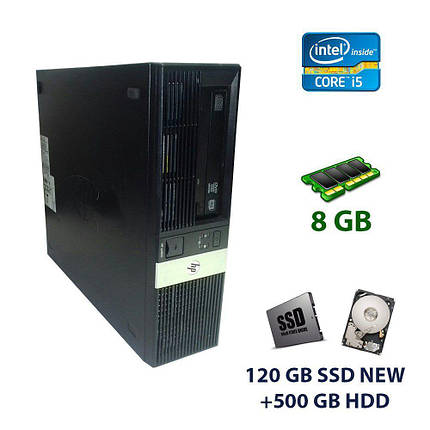 HP 5800 DT / Intel Core i5-2400 (4 ядра по 3.1 - 3.4 GHz) / 8 GB DDR3 / 120 GB SSD NEW+500 GB HDD / nVidia GeForce GT 710, 2 GB GDDR3, 64-bit, фото 2