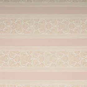 Ткань для мебели шенилл с узором в полоску Регент (Regent) белого цвета