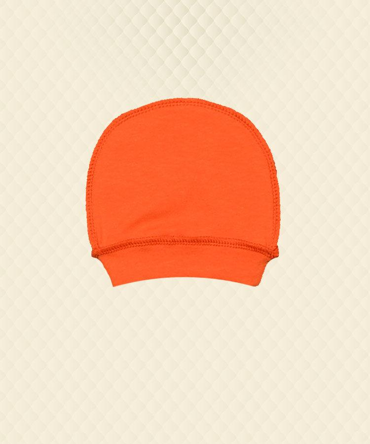 Шапочка ясельна пологовий будинок (0-1м) помаранчева стрейч-кулір