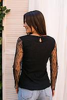 Элегантная блуза из тонкого кружева Hello Kiss! - черный цвет, L/XL (есть размеры), фото 1