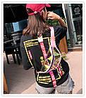 Сумка на пояс Бананка Барыжка City-A Аквариум прозрачная Розовая, фото 2