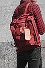 Городской Рюкзак Fjallraven Kanken Classic 16 л Канкен Бордовый, фото 3