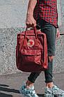 Городской Рюкзак Fjallraven Kanken Classic 16 л Канкен Бордовый, фото 4