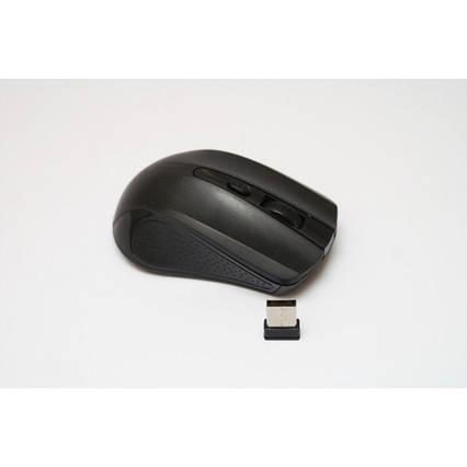 Беспроводная компьютерная оптическая мышка 211 мышь Чёрная, фото 2