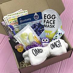 Подарочный Бокс City-A Box #04 для Женщин Бьюти Beauty Box Набор Фиолетово-Желтый из 12 ед.