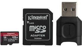 Карта памяти Kingston microSDXC 128GB Canvas React+ (MLPMR2/128GB) + Reader (6552775)