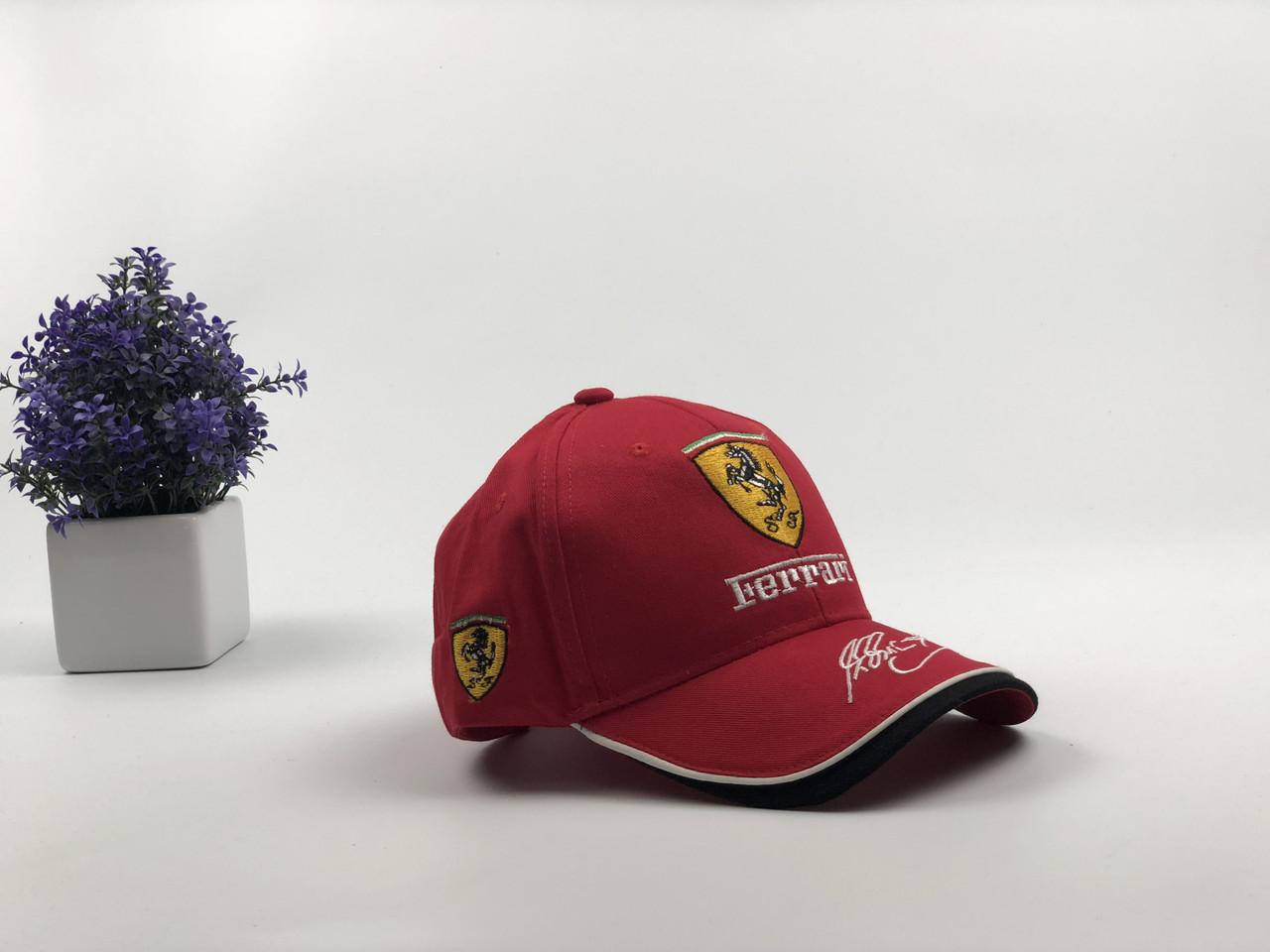 Кепка бейсболка Авто Ferrari (красная)
